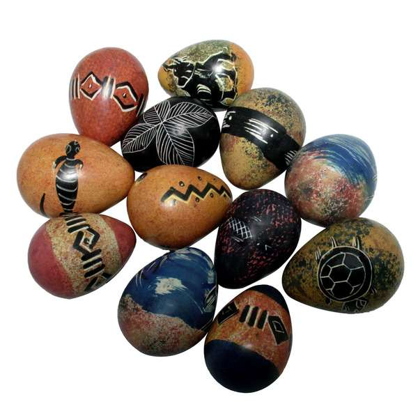 African soapstone eggs