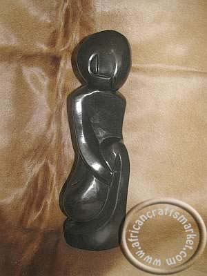 African Spring Stone Abstract Shona Female Prayer