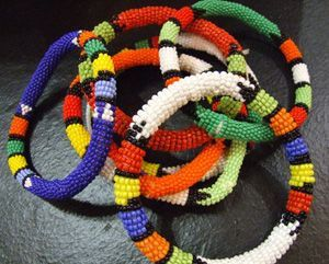 Zulu Beaded Bangle