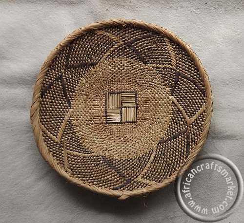 African Woven Baskets: Fulani Basket- Woven Grass Basket