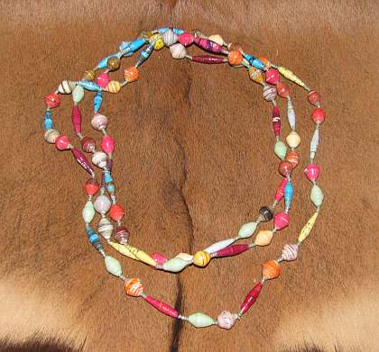 African paper bead necklace for How to make african jewelry crafts