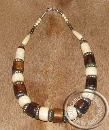 African bone necklace for How to make african jewelry crafts