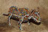 African handcrafted wire beaded Buffalo