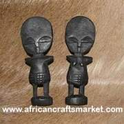 African Akabula - Fertility Doll Pair