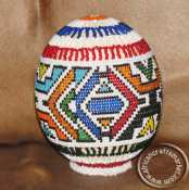 African hand beaded ostich egg