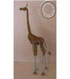 African handcrafted wire beaded Giraffe