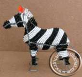 African handcrafted wire beaded Zebra