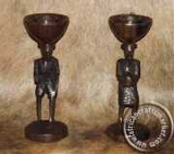 African Couple Candle Holders