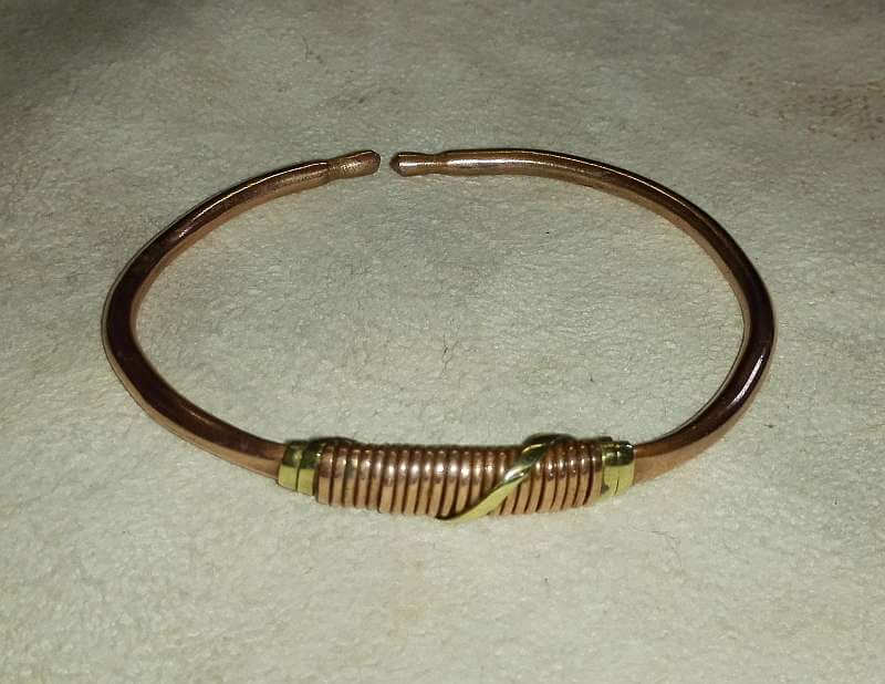 African Handcrafted Copper Bracelets
