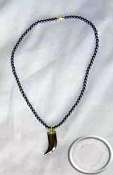 African Hematite Stone Necklace's
