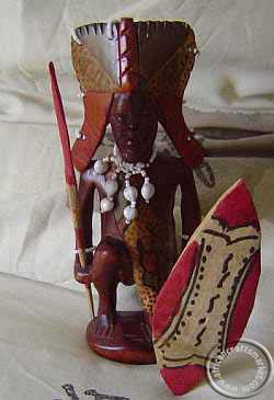 Maasai wood carving - Maasai chief