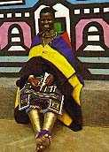 Ndebele woman in traditional dress
