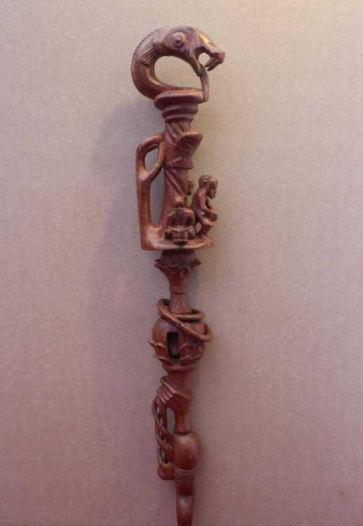 african nyami nyami walking stick