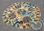 Round African tablecloth