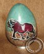 African Soapstone Egg Lions