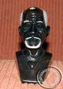 African hand carved stone tribal Shona bust