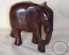 African Wooden Hand Carved Elephant