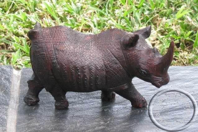 African wooden Rhino