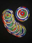 African handcrafted Zulu beaded coasters