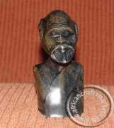 Zulu carved stone male bust