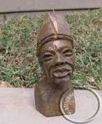 African hand carved stone male bust