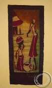 Batik Art Picture - Working Woman