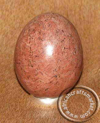 African stone egg - Brown Soapstone