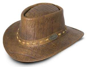 African bufallo leather bush hat