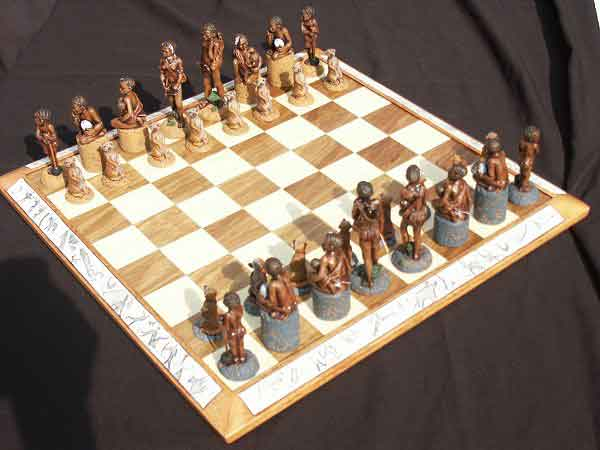 African bushman chess set