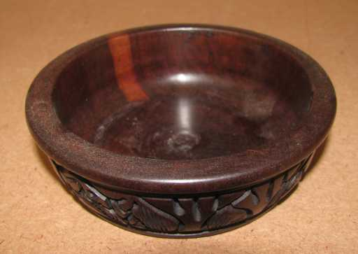 African wood engraved bowls