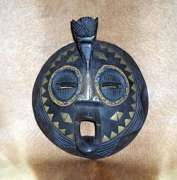 African Hand Carved Luba Masks