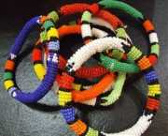 African Zulu beaded bangle