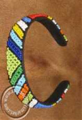 African hand beaded alice band