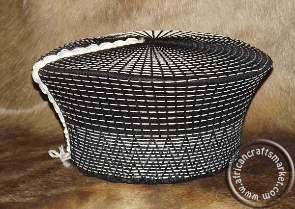 African traditional Zulu hats - black and white