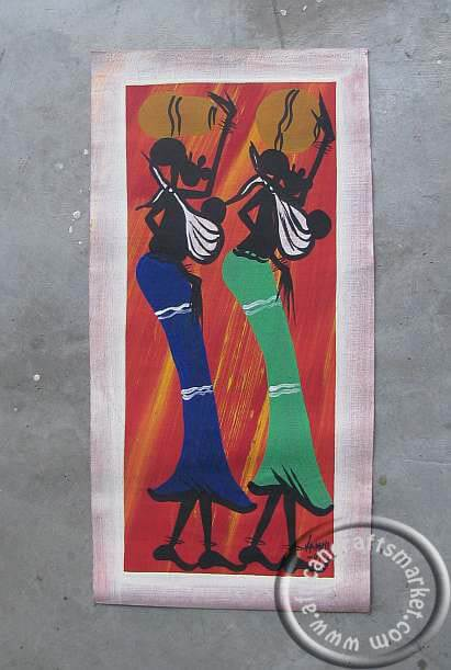 Zulu painting - working woman