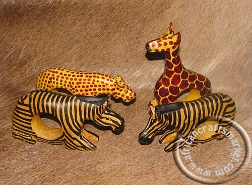 African animal napkin holders