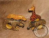 African Animal Napkin Holders set of 4