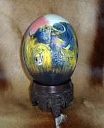 Decoupage African Ostrich Egg - Big 5