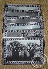 African animal place mats