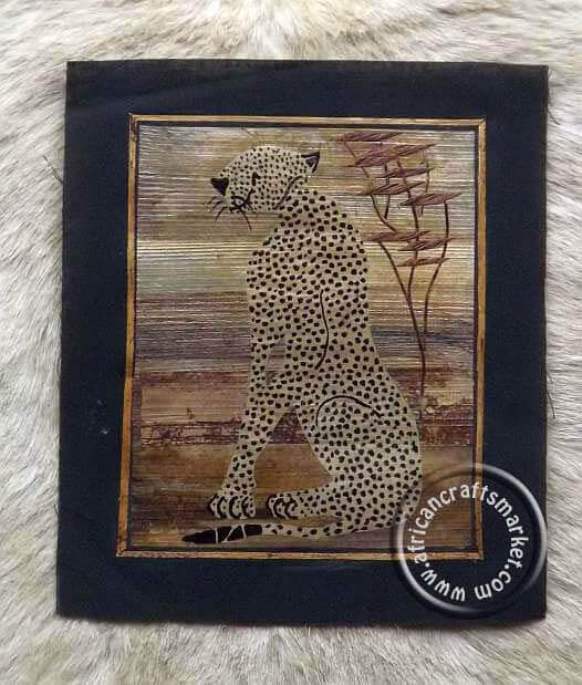 Banana Leaf art - African animals
