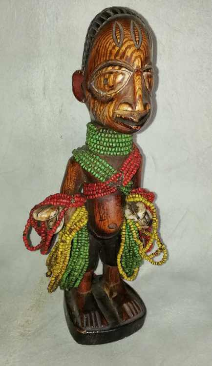 African beaded Namji doll