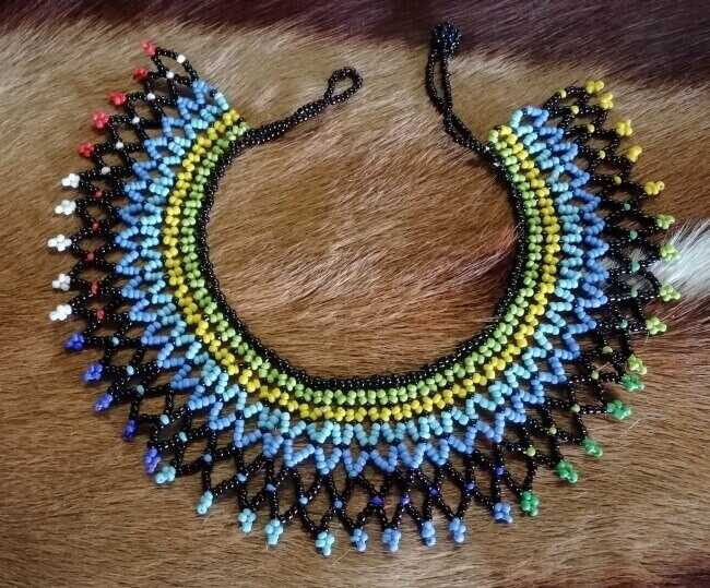 3cb68dbbc94e0d Traditional Zulu Beaded necklace