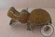 African handcrafted wire beaded hippo