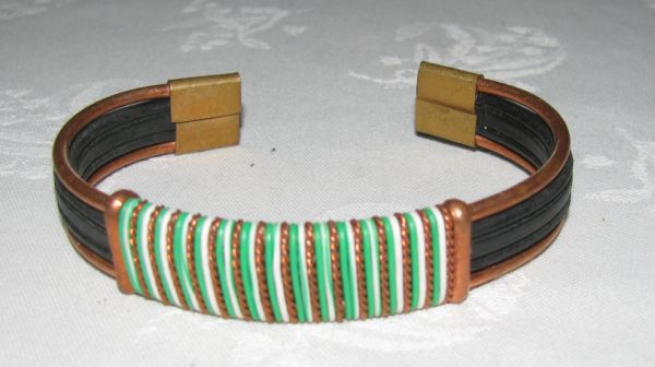 African telephone wire bracelet
