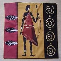 African hand painted cushion