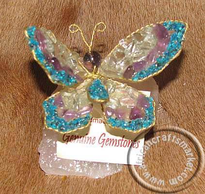 African gemstone butterfly