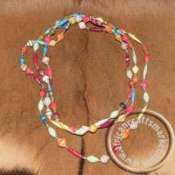 African paper mache necklace