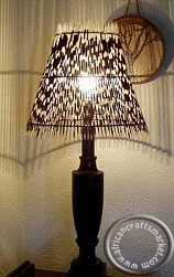 Porcupine Quill African sun lamp shade