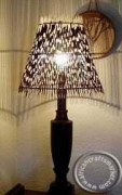 African Porcupine Quill lamp shade