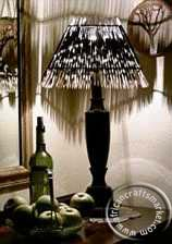 Porcupine quill pyramid lamp shade